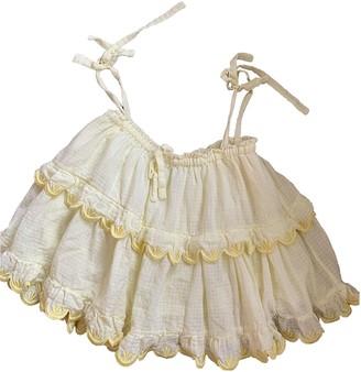 Innika Choo Yellow Cotton Top for Women