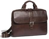 Boconi Men's 'Tyler' Tumbled Leather Portfolio Briefcase - Brown