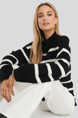 NA-KD High Neck Striped Knitted Sweater