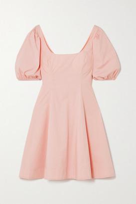 STAUD Laelia Stretch-cotton Poplin Mini Dress - Pink