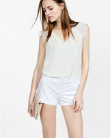 Express white dress short