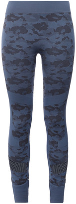 adidas by Stella McCartney + Adidas Mesh-paneled Stretch-jacquard Leggings