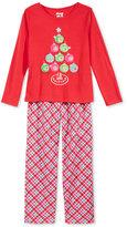 Sleep On It 2-Pc. Holiday Tree Pajama Set, Little Girls (2-6X) & Big Girls (7-16)