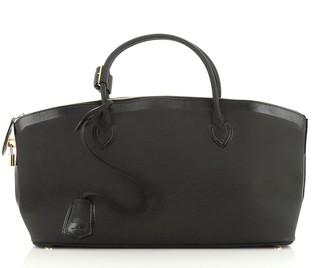 Louis Vuitton Obsession Lockit Handbag Rubberized Calfskin East West