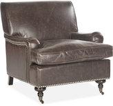Auburn Faux Leather Accent Chair, Quick Ship
