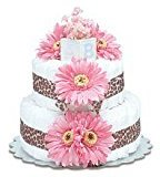 Bloomers Baby Small Hot Pink Daisy Diaper Cake