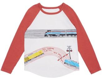 Peek Aren't You Curious Wyatt Train Tracks Graphic T-Shirt