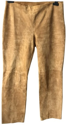 Loewe Camel Suede Trousers