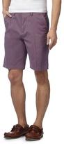 Maine New England Big And Tall Purple Chino Shorts