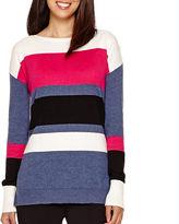 Liz Claiborne Long-Sleeve Striped Sweater