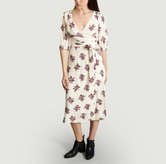 Jolie Jolie - Raspberry Viscose Maud Floral Print Wallet Dress - viscose | Med | raspberry - Raspberry