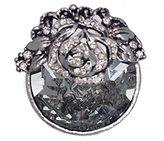 AJ Fashion Jewellery BENIGNA Antique Tone Crystal Scarf Clip
