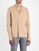 Boglioli Double-breasted knitted wool jacket