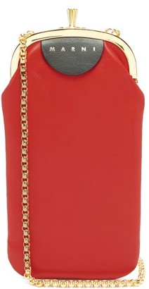 Marni Chinese New Year Leather Phone Bag - Red Multi