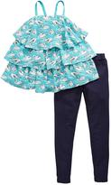 Very Girls Printed Tiered Top and Jeggings Set (2 Piece)