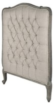 The Well Appointed House Wood and Upholstered Headboard-Available in Twin or Queen Size