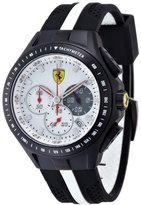 Ferrari Scuderia Gents SF103 Black and White 'Textures Of Racing' Watch 0830024