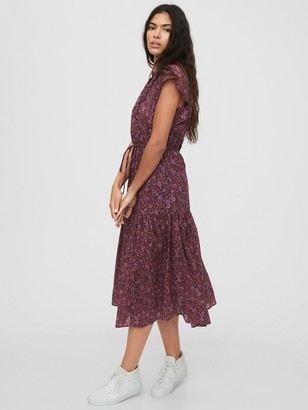 Gap Flutter Sleeve Midi Dress