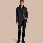 Burberry Wool Cashmere Blend Coat with Detachable Warmer