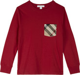 Burberry Check pocket cotton long-sleeved top 4-14 years