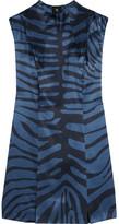 Topshop Printed Silk-jacquard Dress