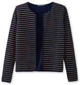 Petit Bateau Womens shiny striped cardigan
