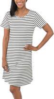 White Stripe T-Shirt Dress