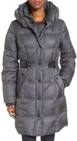 Larry Levine Women's Quilted Down & Feather Fill Coat