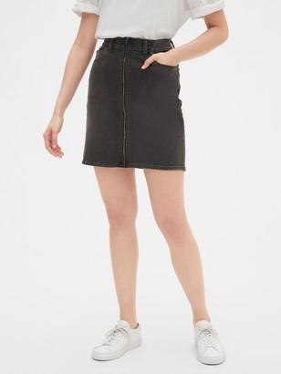 Gap Zip-Front Denim Mini Skirt