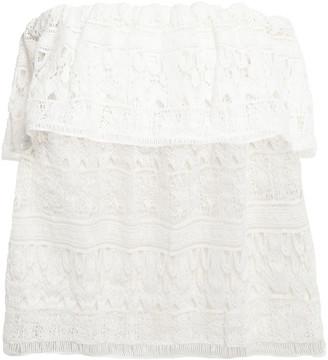 BA&SH Strapless Crocheted Cotton Top