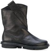 Trippen asymmetric strap ankle boots