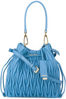Miu Miu matelassé bucket shoulder bag - women - Calf Leather - One Size