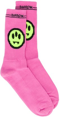 Barrow Ribbed Face Motif Socks