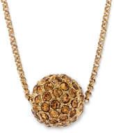 JCPenney MONET JEWELRY Monet Gold-Tone Fireball Pendant Necklace