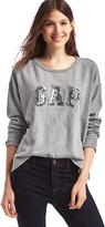 Gap Sequin logo applique slouchy sweatshirt