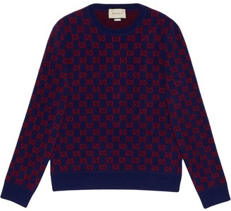 Gucci monogram pattern jumper