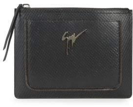 Giuseppe Zanotti Top Zip Leather Pouch