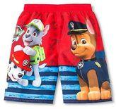 Toddler Boys' Paw Patrol Swim Trunk - Fire Red