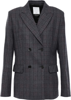 Sandro Oscar Double-breasted Wool-blend Blazer