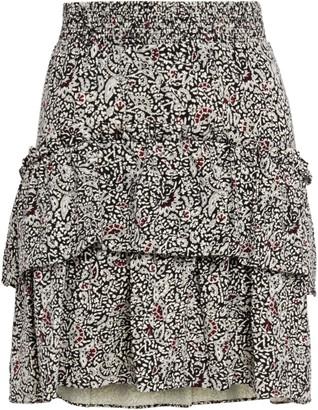 MICHAEL Michael Kors Tiered Printed Jersey Mini Skirt