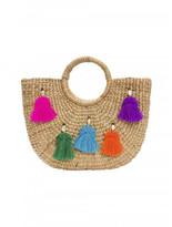 JADEtribe Tassel Pom Beach Basket