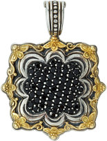 Konstantino Square Pave Black Diamond Pendant Enhancer