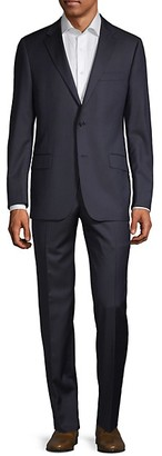 Hickey Freeman Classic Fit Milburn IIM Series Stripes Wool Suit