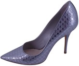 Christian Dior Silver Patent leather Heels