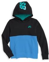 Nike Boy's Colorblock Fleece Hoodie