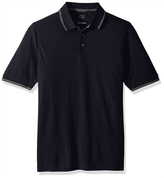 Cutter & Buck Men's 35+ UPF Lightweight Cotton Advantage Tipped Polo Shirt