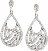 FANTASIA Woven Pave CZ Crystal Pear Drop Earrings
