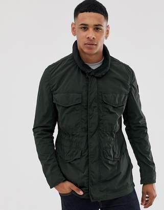 BOSS Olisso four pocket field jacket in khaki-Green