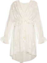 Zimmermann Harlequin cotton and silk-blend dress