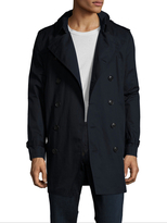 Burberry Double Breasted Hooded Trench Coat